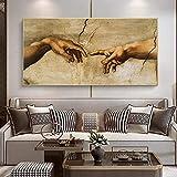 XIANGY Leinwand Poster Wandbilder Hand in Hand Die