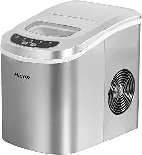 Portable Ice Maker Machine Making Bullet Ice Cubes 26 lbs/24 hrs, Quality Stainless Steel Compact Ice Maker Countertop wit...