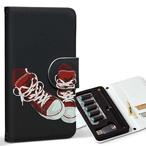 スマコレ ploom TECH プルームテック 専用 レザーケース 手帳型 タバコ ケース カバー 合皮 ケース カバー 収納 プルームケース デザイン 革 おしゃれ ファッション 英語 010165