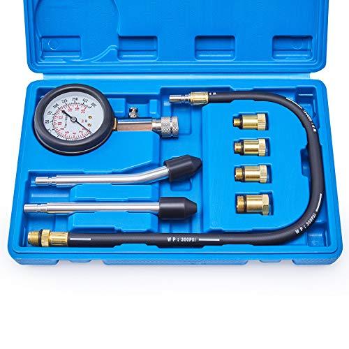 Compression Tester, 8PCS Cylinder Pressure Gauge for Petrol Gas Engine