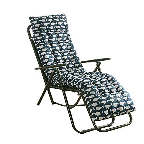 NAKELUCY Schaukelstuhlkissen und -Polster, Liegestuhl-Liegekissen, weiche sommerliche saisonale Ersatzkissen für den Innenhof im Innenbereich, 48 x 155 cm