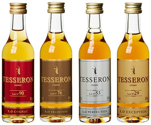 Tesseron XO Collection Miniset (Lot Nr. 90/76/53/29) mit Geschenkverpackung  Cognac (4 x 0.05 l)