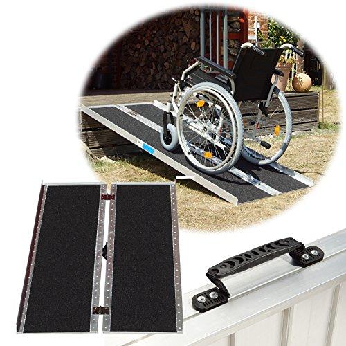 Trutzholm Rollstuhlrampe rutschfeste Oberfläche verschiedene Größen 272 kg klappbar Alu Auffahrrampe Verladerampe Rampe (184)