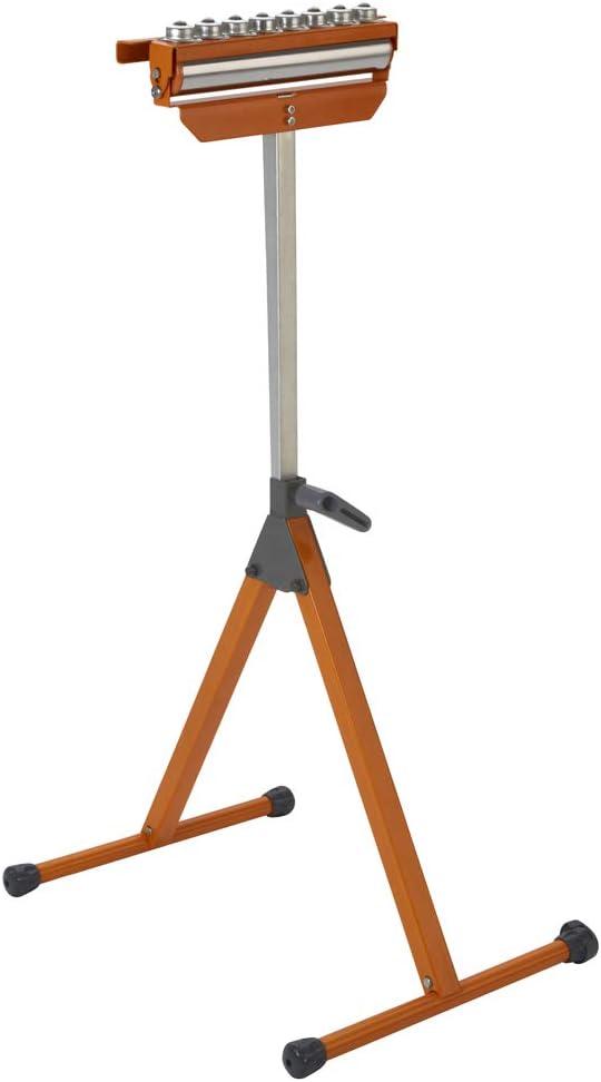 "BORA Portamate PM-5093 Tri Function Pedestal Roller 11.25"" Polished Steel Roller, Ball Bearing Multi-Directional Rollers - -"