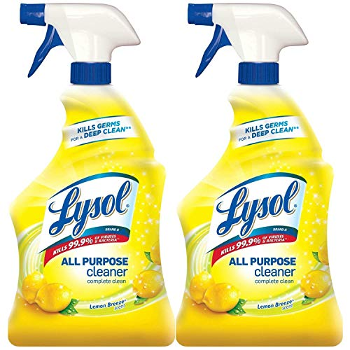 Lysol All Purpose Cleaner Spray, Lemon Breeze, 64oz (2X32oz)