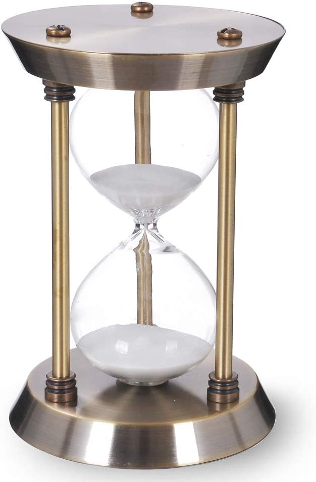 60 Minute Hourglass Sand Timer with Big Dallas Mall Metal Frame All stores are sold Antiqu Size