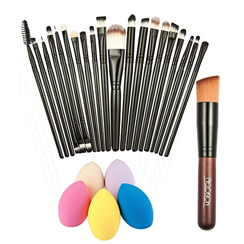 Akaddy Neue 20x Make-up Pinsel + Puder Foundation Pinsel + Sponge Puff