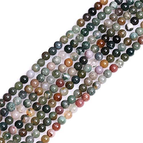 Sweet & Happy Girl's Store Kettenstrang mit Perlen aus indischem Achat zur Fertigung von Schmuck, 38,1°cm, Achat, 4 mm Indischer Achat