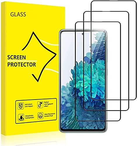 MIYOYE (Pacote com 3) película protetora de tela de luxo para Samsung Galaxy F02S [cobertura total HD] [fácil instalação][resistente a arranhões] [dureza 9H] [livre de bolhas]