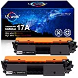 Uniwork Compatible Toner Cartridge Replacement for HP 17A CF217A use for Laserjet Pro M102w M130fw, Laserjet Pro MFP M130fw M130nw M130fn M130a Printer, 2 Black (with Chip)