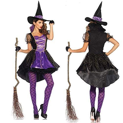 Fashion-Cos1 Frauen Sexy Einzigartige Hexe Kostüm Kleid Cosplay Party Kostüm Für Erwachsene Weibliche Halloween Kostüme (Size : L)