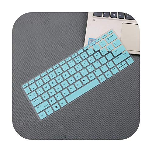 for Hp Probook 430 G6 430 G7 13.3' Notebook 13 Inch Silicone Laptop Keyboard Cover Skin-Whiteblue-