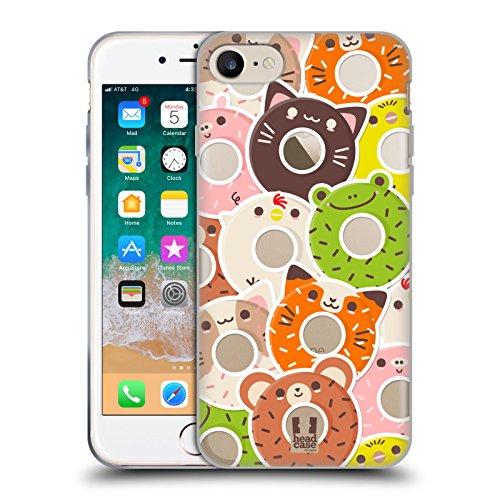 Head Case Designs Pegatinas Donuts de Animales Kawaii Carcasa de Gel de Silicona Compatible con Apple iPhone 7 / iPhone 8 / iPhone SE 2020