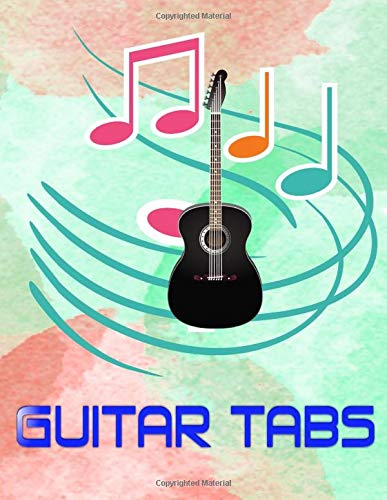 Ultimate Guitar Tab Treasure Chest: Blank Guitar Tabs Size 8.5x11 Inch ~ Play - Music # Bass ~ Matte Cover Design White Paper Sheet 120 Pages Good Print.