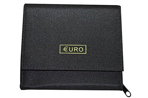 Porte Monnaie Euro - 8 Compartiments Monnaie - trieur - Euro Porte Monnaie - Frédéric Johns (Noir)