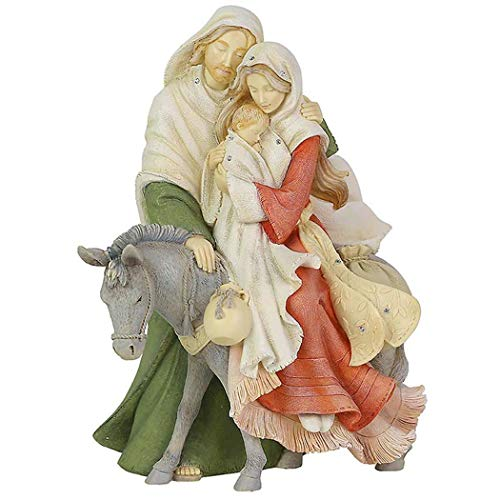 Enesco Heart of Christmas Holiday Holy Family Figurine, 9.45 Inch, Multicolor