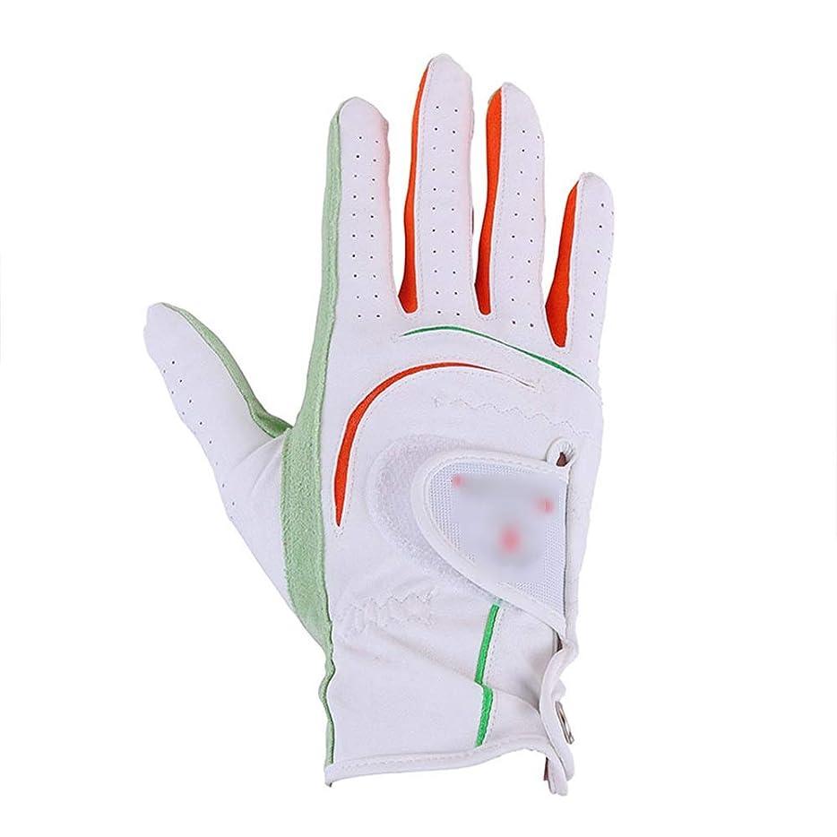 請う挑むクリスチャンユニセックスゴルフグローブ 女性の長い日焼け防止ゴルフ手袋汚れや耐摩耗性左手右手練習ゴルフ手袋 男性の女性のために左手と右 (色 : 白, サイズ : 18)