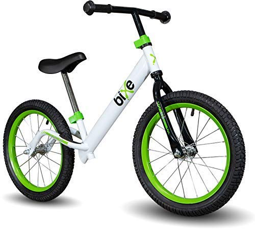 "Green Pro Balance Bike for Big Kids and Kids with Special Needs - 16"" No Pedal Glide Training Bicycle for Children Ages 5,6,7,8. Peddle-Less Bike Made for Fun Learning. …"