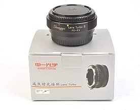 Zhongyi Lens Turbo II Focal Reducer Booster Adapter Canon FD to Fuji/Fujifilm FX X-T2