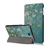 Xuanbeier Funda Compatible con Samsung Galaxy Tab A 10.1 SM-T580 T585 (Tab A6) con Soporte Función Auto-Sueño/Estela,Flor