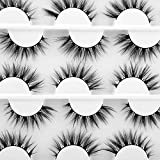 Lanflower Natural Faux Mink Lashes Pack 12 Pairs 3D Reusable Handmade Fake Lashes Whosesale
