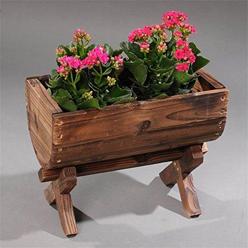 Antiseptique Solide Bois Mini Fleur Racks/Stand Antiseptique Mode Fleur Pot Présentoir pour Balcon Salon Jardin