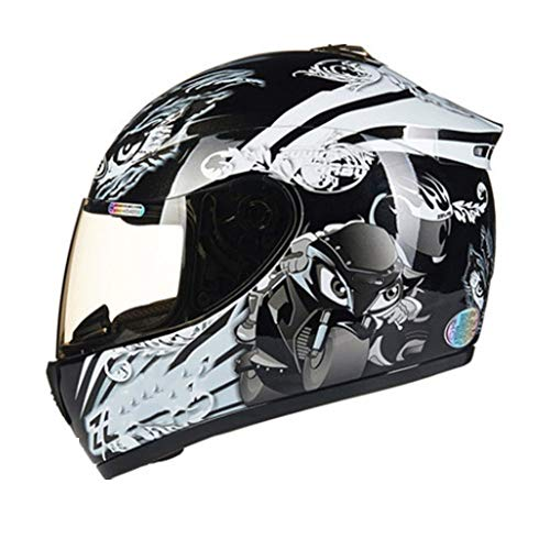YWLG Casco De Motocicleta Casco De Cara Completa Motocicleta Montar En Bicicleta...