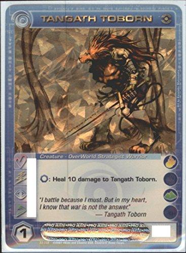 Chaotic TANGATH TOBORN Super Rare Foil Card Random Stats Dawn Perim
