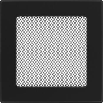 Kratki Kamin Luftgitter schwarz Ofen Lüftungsgitter Warmluftgitter Kaltluftgitter Kamingitter Größe 220x220 mm