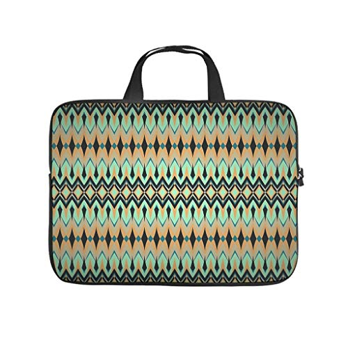 Aztec Diamond Grid Laptop Bag Scratch-Resistant Laptop Protective Bag Pattern Notebook Bag for University Work Business