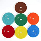ROSEBEAR 5 Pulgadas 125 Mm Almohadillas de Pulido de Diamante Húmedo Kit de Discos de Pulido para Mármol de Hormigón de Granito (3000)
