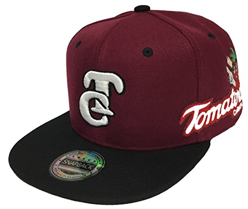 TOMATEROS DE Culiacan 2 Logos HAT Maroon Black Snapback Adjustable