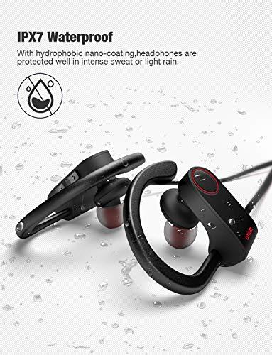 Otium Bluetooth Headphones, Best Wireless Sports Earphones w/Mic IPX7 Waterproof HD Stereo Sweatproof in-Ear Earbuds Gym Running Workout 8 Hour Bat   tery Noise Cancelling Headsets