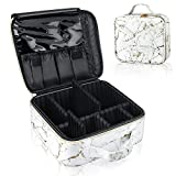 Cosmetic Bag for Women, Aubss Marble Makeup Bag Waterproof Travel Cosmetic Cases Toiletry Bag Portable Cosmetic Artist Storage Bag (Marble Pattern)