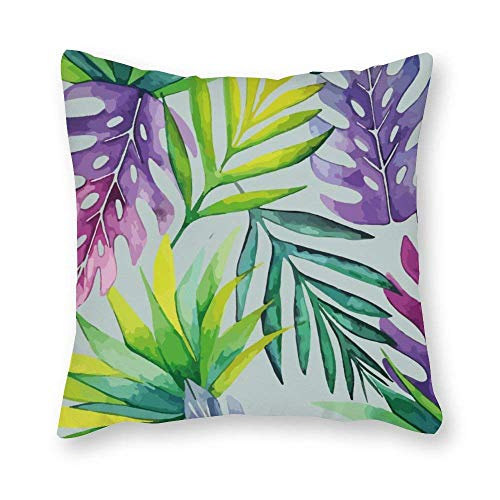 shenguang Canvas Square Throw Pillow Cases Cushion Covers for Bed Sofa Couch Car, Abstract Flower Painting
