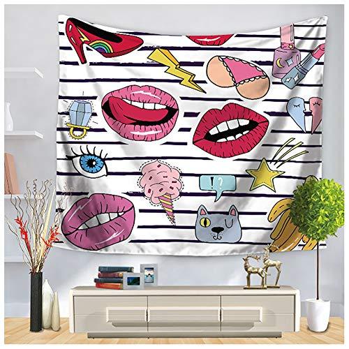Generic Mode Teppich, Kosmetik Und Make Up Thema Muster Mit Parfüm Lippenstift Nagellack Pinsel...