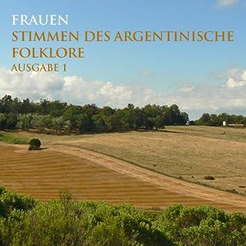 Frauen Stimmen Des Argentinische Folklore - Ausgabe 1