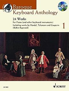 Baroque Keyboard Antholog - 24 Works - Schott Anthology Series - Keyboard - edition with CD - (ED 13601)