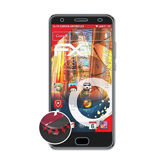 atFolix Schutzfolie kompatibel mit Oukitel K6000 Plus Folie, entspiegelnde & Flexible FX Bildschirmschutzfolie (3X)