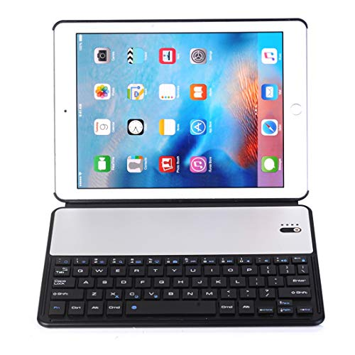 LDT Keyboard for Tablet PC, Universal Ultra-thin PC + PU Horizontal Flip Case + Bluetooth Keyboard for iPad 9.7 (2018) & iPad Air & Air 2 & iPad Pro 9.7 & New iPad 9.7 inch (2017) (Color : Black)