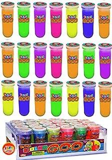 JA-RU Slime Test Tube Sludge (Pack of 24 with Display) Dr. Wacko's Mad Lab Goo, Glowing Alien Colors Sensory Educational Toy | Item # 5437-24p