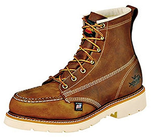 Thorogood 804-4375 Men's American Heritage 6' Moc Toe, MAXWear 90 Safety Toe Boot, Trail Crazyhorse - 11.5 2E US