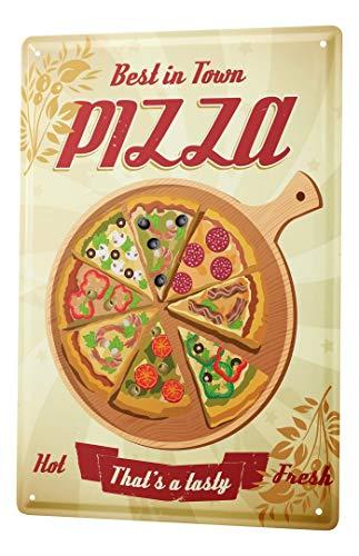LEotiE SINCE 2004 Blechschild Vintage Retro Metallschild Wandschild Blech Poster Nostalgie Fun Pizza