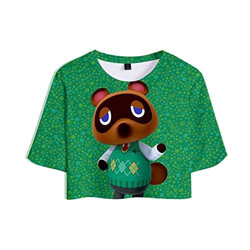Camiseta De Verano con Cuello Redondo Y Manga Corta para Muj