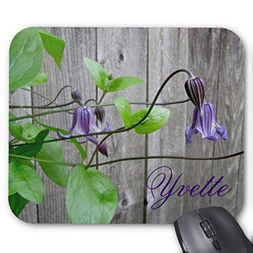 Whecom Tappetino Mouse Gaming, Purple Clematis Roguchi Personalized Mouse Pad Rectangle Non-Slip Rubber Personalized Mousepad Gaming Mouse Pads 18 x 22 cm