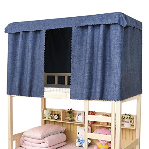 YJZQ Bettvorhang Baumwolle Etagenbett Stoffvorhang Studentenwohnmein Moskitonetz Lichtdicht Vorhang Mückennetz für Hochbett Kinderbett, 1.2 x 2.0 M(1pcs)