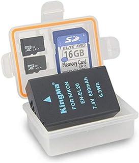 KINGDUO Boîte Protectrice De La Pile De Stockage Kingma Affaire Titulaire 50x36.5x16Mm pour Batterie Nikon En-El20