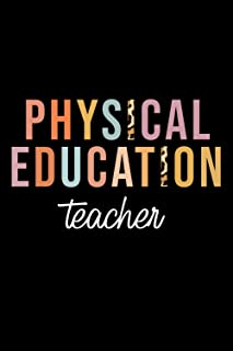 Physical Education Teacher: Leopard Pe Teacher Phys Ed Cute Back to School Supplie Women Idea With Funny Saying On Cover, ...