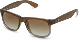 Bundle: Ray-Ban RB4165 Justin Rubber Brown On Grey/Green Gradient 55mm