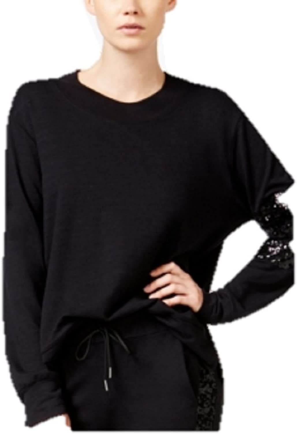 CHELSEA SKY French Terry SequinDetail SWE Black XL